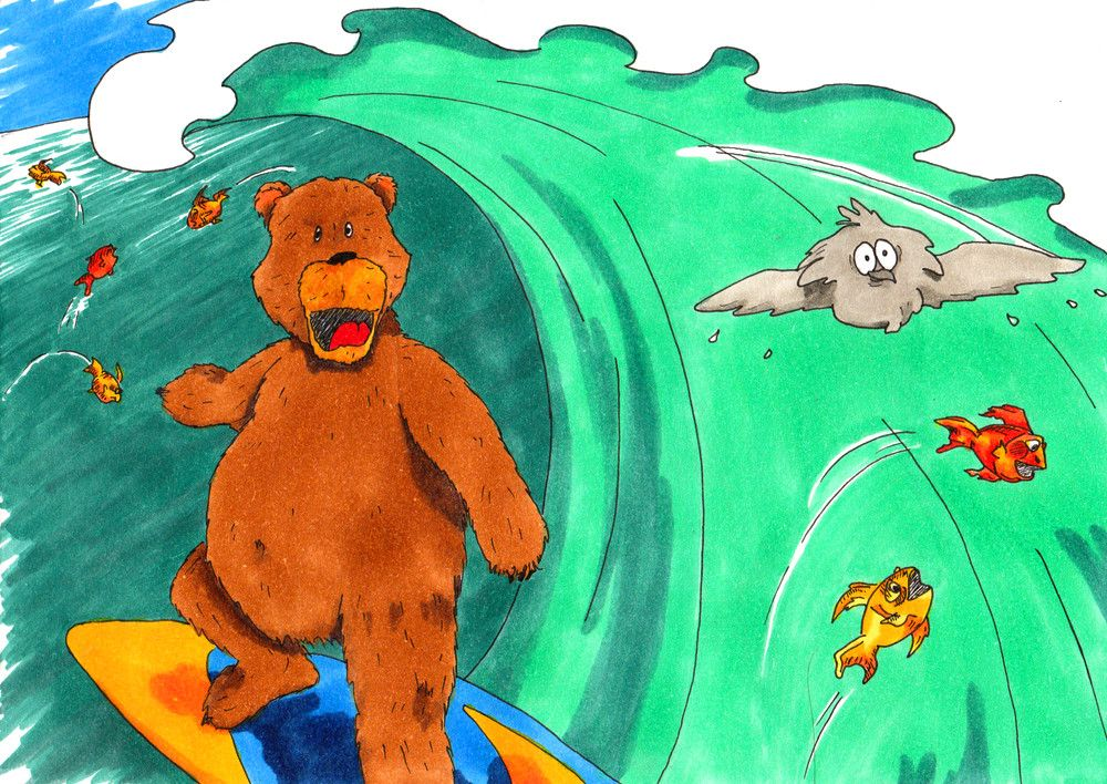 SURFING BEAR!